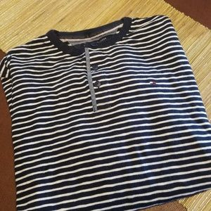 Tommy Hilfiger Shirts - Tommy Hilfiger Collarless Polo Long Sleeve